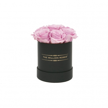 Soft Pink Blow Eternity Roses - Black Box