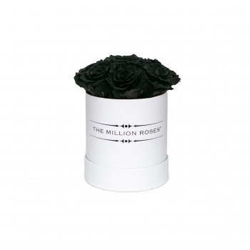 Black Eternity Roses - Weiss Box